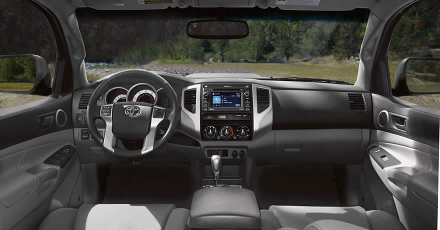 see the interior features on a used toyota tacoma in houston. Black Bedroom Furniture Sets. Home Design Ideas