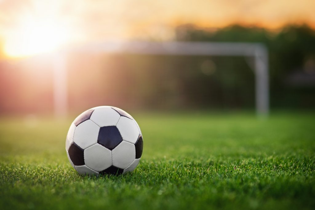 Soccer ball under the sunset for International Champions Cup